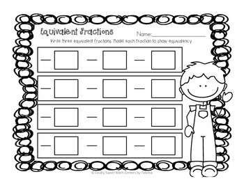 Equivalent Fractions Puzzle Station 4.NF.1
