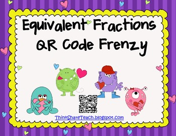 Equivalent Fractions QR Code Frenzy