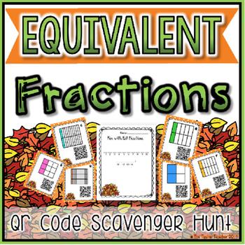 Equivalent Fractions QR Code Scavenger Hunt