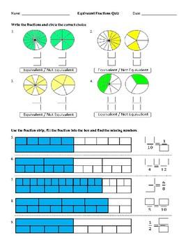 Equivalent Fractions Quiz