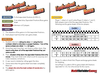 Equivalent Fractions Race