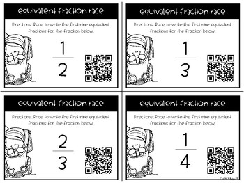 Equivalent Fractions Race (A Fraction Math Game)