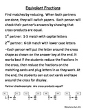 Equivalent Fractions: Reducing and Cross-Products