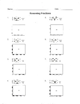 Renaming numbers worksheet teaching resources teachers pay teachers a2 equivalent fractions renaming fractions worksheet 4a2 ibookread Read Online