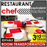 Equivalent Fractions  - Restaurant Chef Classroom Transformation