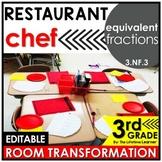 Equivalent Fractions 3rd Grade   Restaurant Chef Classroom