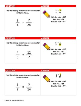 Equivalent Fractions Review