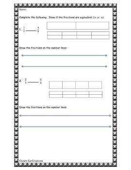 Equivalent Fractions Review/Reteach