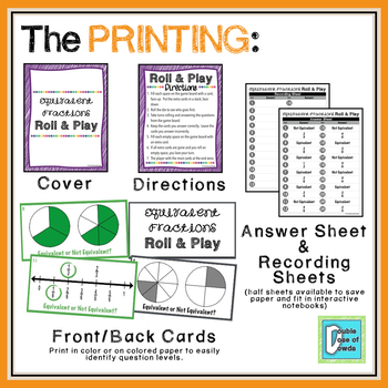Equivalent Fractions Roll and Play Dice Game