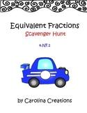 Equivalent Fractions Scavenger Hunt - 4.NF.1