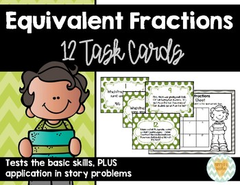 Equivalent Fractions: Set of 12 Task Cards