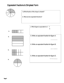 Equivalent Fractions & Simplest Form