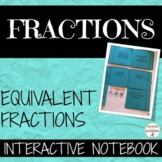 Equivalent Fractions Color Coded Interactive Notebook Graphic Organizers