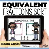 Equivalent Fractions Sort - Digital Task Cards