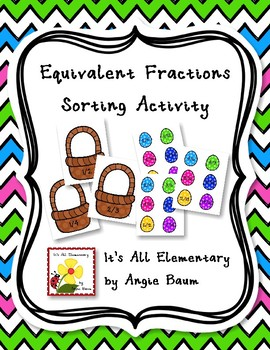 Equivalent Fractions Sorting Activity