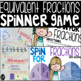 Equivalent Fractions Spinner Game