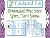 Equivalent Fractions Spiral Card Game