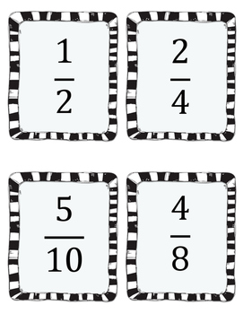 Equivalent Fractions Spoons Game