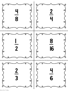 Equivalent Fractions Spoons Game CCSS Aligned {2 Sets}