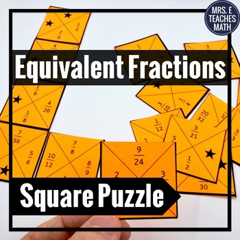 Equivalent Fractions Square Puzzle