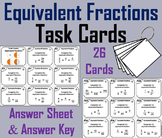 Equivalent Fractions Task Cards 4th 5th 6th 7th Grade