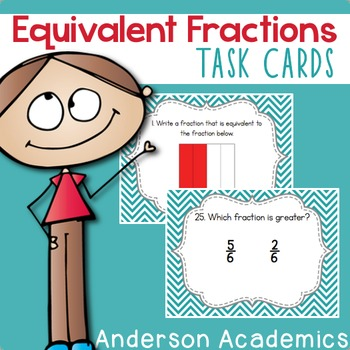 Equivalent Fractions Task Cards {3.NF.3}