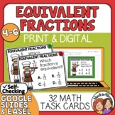 Equivalent Fractions Task Cards - Fraction Test Prep