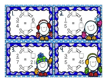 Equivalent Fractions Task Cards (An interactive approach)
