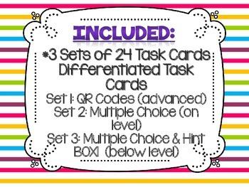 Equivalent Fractions Task Cards Bundle