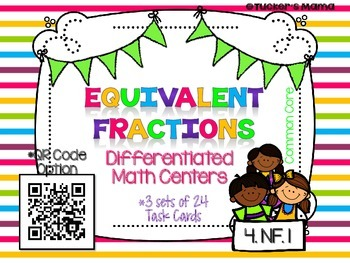 Equivalent Fractions Task Cards Bundle