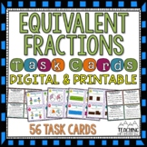 Equivalent Fractions Task Cards | Distance Learning | Google Classroom