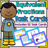 Equivalent Fractions Task Cards - Common Core Aligned