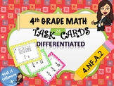 4th Grade Equivalent Fractions Task Cards! *DIFFERENTIATED* (4.NF.A.2)