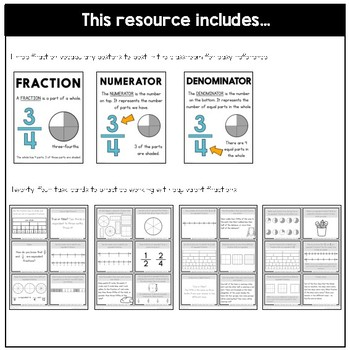 Equivalent Fractions Task Cards | Fraction Practice