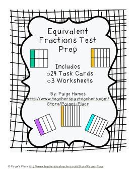 Equivalent Fractions Test Prep
