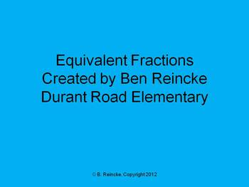 Equivalent Fractions TurningPoint Clickers Presentation