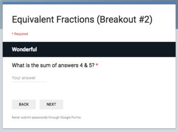 Equivalent Fractions – Two Breakout Activities!
