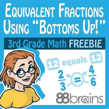 Equivalent Fractions FREEBIE pgs. 15 - 16 (Common Core)