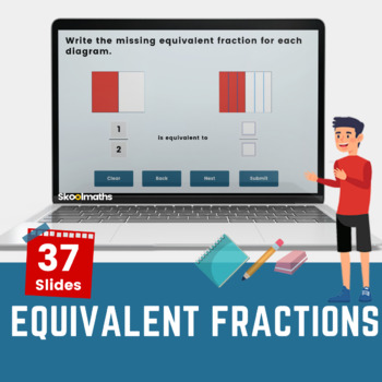 Equivalent Fractions Using Diagrams - Year 4 (US 3rd grades)