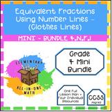 Equivalent Fractions Using Number Lines - 4.N.F.1 - Mini Bundle