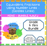 Equivalent Fractions Using Number Lines - 4.N.F.1 - Mini Bundle