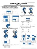 Equivalent Fractions Using Visual Models