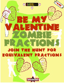 Equivalent Fractions: Valentine Zombies, zombies, ZoMbIEs in COLOR!