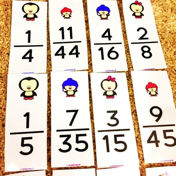 Winter Equivalent Fractions Game