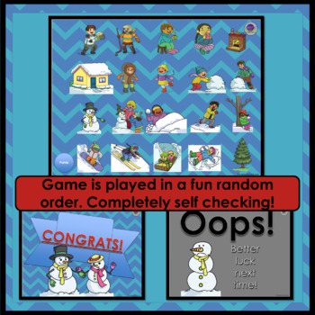 Equivalent Fractions Winter PowerPoint Game