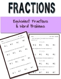 Equivalent Fractions Word Problems Common Core