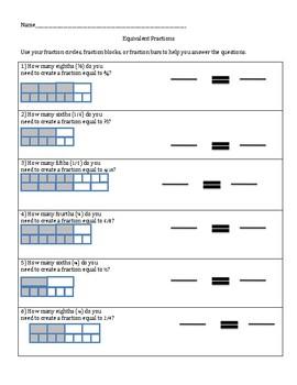 Equivalent Fractions Workbook