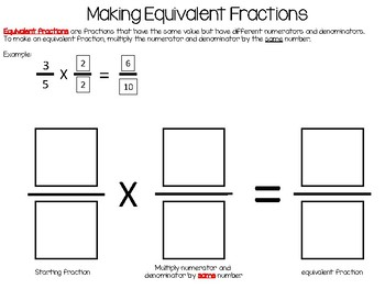 Equivalent Fractions Workmat