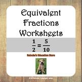 Equivalent Fractions Worksheets for Practice (2 worksheets)