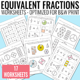 Equivalent Fractions Worksheets - Fractions Unit